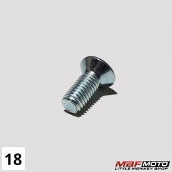 Ruuvi kytkinkopan kansi Honda Monkey 87- 93700-050-120A