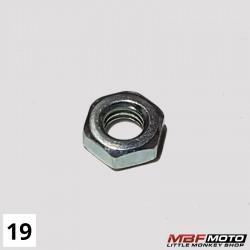 Mutteri ohut kytkinsäätö ruuvi Honda Monkey 87- 94002-060-000S