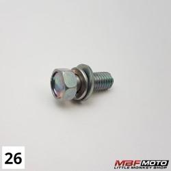 Kiinnityspultti etuvalokoppa 93403-080-2000 Honda Z50J