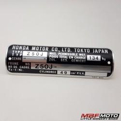 Tyyppikilpi Honda Monkey Z50j 87501-165-950