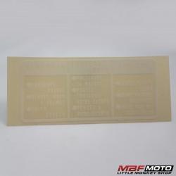 Varoitustarra Honda 87560-375-680ZF