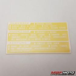 Varoitustarra Honda 87560-181-760ZF