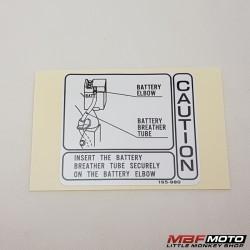 Varoitustarra sivukotelo Honda Monkey z50j 87506-165-980