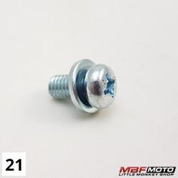 Ruuvi lämpösuoja 93891-060-1200 Honda Monkey Z50J