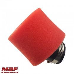 Ilmansuodatin 45° punainen 35/38mm liitos